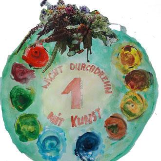 Karolas 1. Platz in der Kategorie NICHT DURCHDREHEN MIT KUNST
