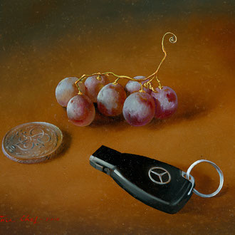 Genia Chef, My Personal Values, 14 x 18 cm, oil on panel