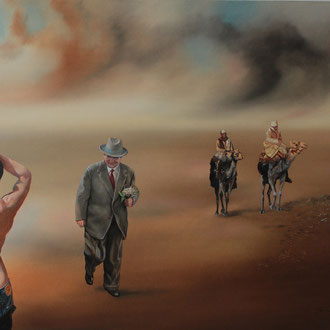 Genia Chef, Meeting wit the Avantgarde, 100 x 140 cm, oil on canvas