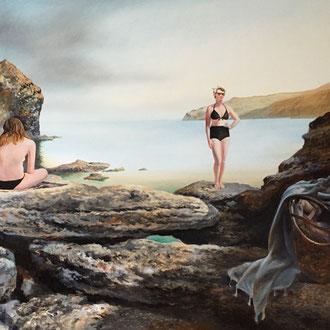 Genia Chef, Secret Harbour, 100 x 140 cm, oil on canvas