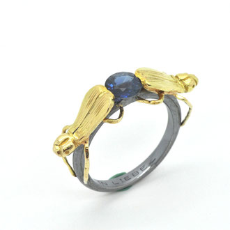 Ring  750/ooo Gold. Saphir 1,0 ct