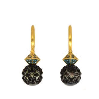 Panthera, 750/ooo Gold, Blaue Brillanten, Tahiti Perlen