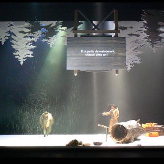 Haskell Junction. Mise en scéne Renaud Cojo. TNBA. Scénographie Eric Charbeau, Philippe Casaban.