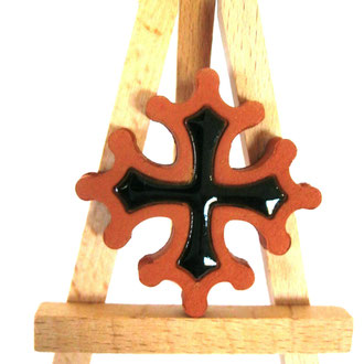 Croix occitane plate diamètre 14.5 émaillé à l'intérieur
