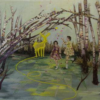lucid dreaming, Öl auf Leinwand, 140 x 170 cm, 2018