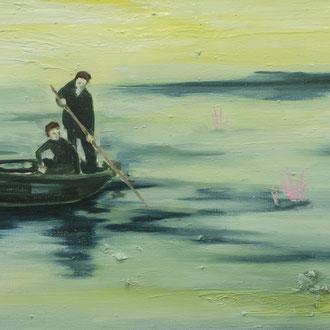 milky river, Öl auf Leinwand, 34 x 51 cm, 2018