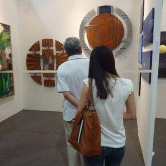 """Bild """"Quelle"""" auf der Shanghai Art Fair (Große Wandbilder aus Stahl)"""