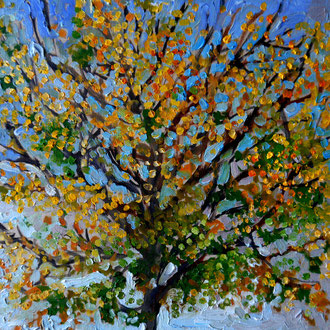 arbre 3, 40x40cm, huile, 2009