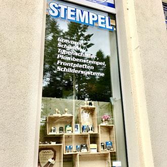 """Schaufenster """"Stempel"""""""