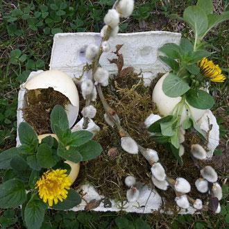 Naturerfahrung - Wir gestalten ein Ostergesteck