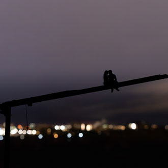 Crane Over Ottawa at Night