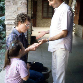 Donald Mahler & David observed by Freiny Eastman at Meherabad. Photo courtesy of Raine Eastman-Gannett