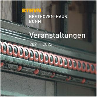 Saisonbroschüre 2021/22, Beethoven-Haus Bonn, Juli 2021