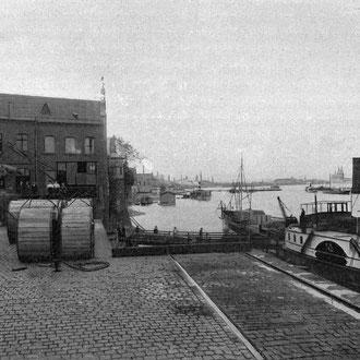 Lagergebäude Schneider, Jacky, Summerer & Co., um 1909.