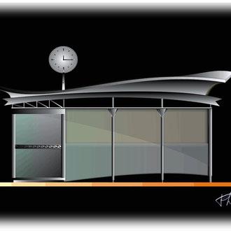 TEC / Projet d'abribus © Fernand Flausch / Chris Renault 1999/2000