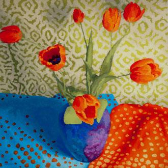 Tulip Dance With Dot, 36x36