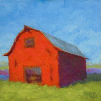 Barn Red, 8 x 8