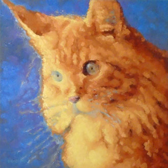Puss n' Boots, 18 x 18- Pet Portrait Commissions also available!