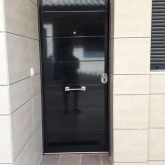Custom made new front door panel