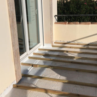 Laying a new terrace