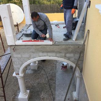 Construction of a new balcony