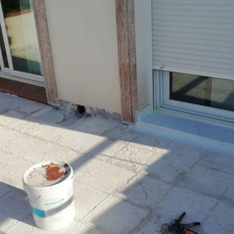 Making terrace water proof