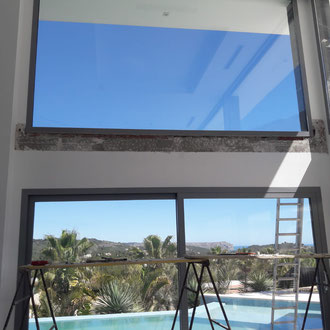 Filtration of water under large windows