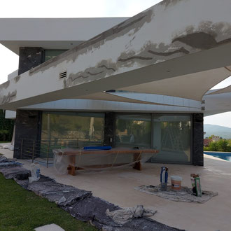Painting job exterior