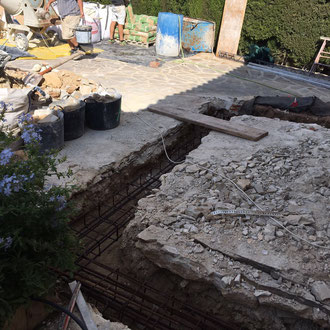 Groundwork for a new construction