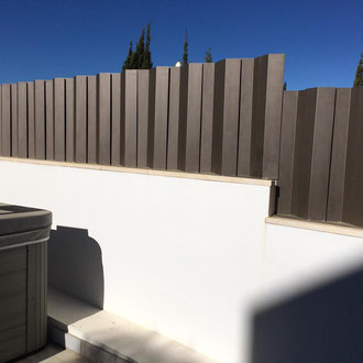 Painting of the fence completed