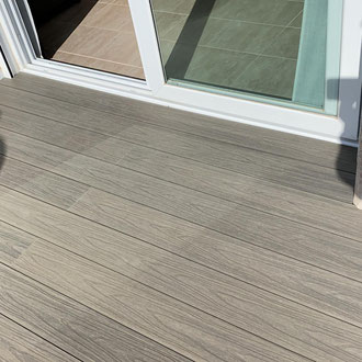 New terrace with waterproof layer and new floor
