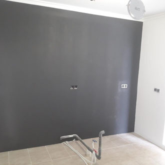 Preparations for placing a new kitchen