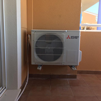 Installation of a new air conditioning outside unit