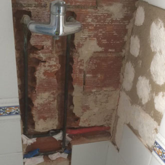 Finding and reparing the leak of the shower
