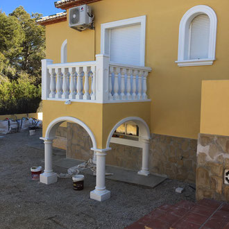 New balcony completed and painted