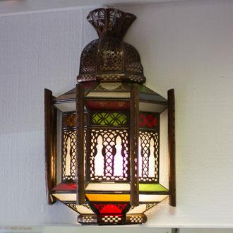 Orientalische Lampe mit Buntglas - CASAORIENT Stuttgart