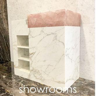 luxe natuursteen showroom