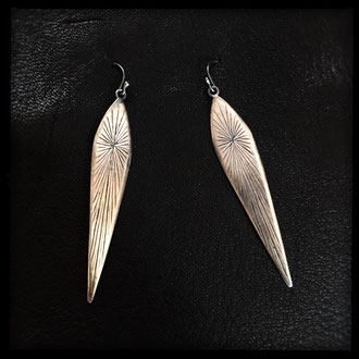 Warrior Priestess Earrings - Sterling Silver