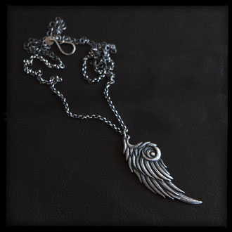 Pegasus Wing Necklace - Sterling Silver