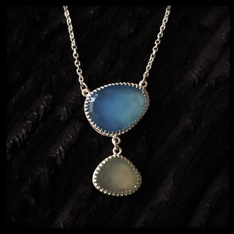 Mermaid's Cove Necklace - Chalcedony, Sterling Silver