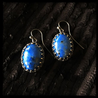 Neala Earrings - Lapis Lazuli, Sterling Silver