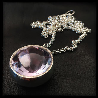 Clairvoyance Necklace - Sterling Silver, Amethyst