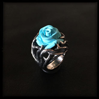 Thorn Ring - Sterling Silver, stabilized Turquoise