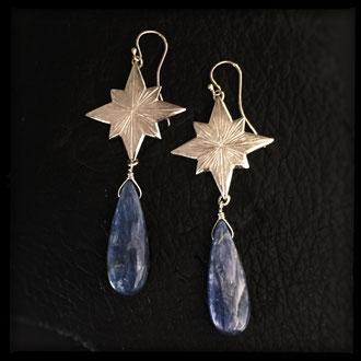 Starborn Earrings - Sterling Silver, Kyanite