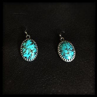Neala Earrings - Sterling Silver, Turquoise