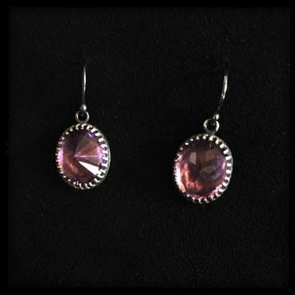 Neala Earrings - Sterling Silver, Amethyst
