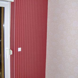 Nahtloser übergang von zwei unterschiedlichen farbigen Tapten · Malermeister Schombel · Cottbus · Burg