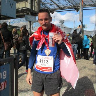 Prost! Der München Marathon ist geschafft.