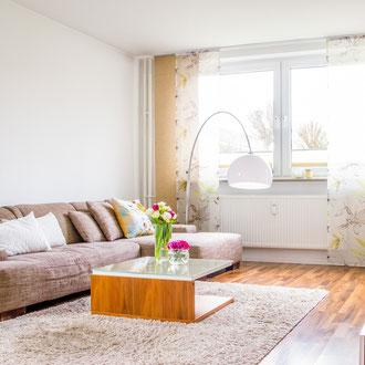 Bewohnte Immobilie Wohnung in Rendsburg Home staging Elena Johannsen Raumgestaltung Bilder Vorher Nachher Beispiele