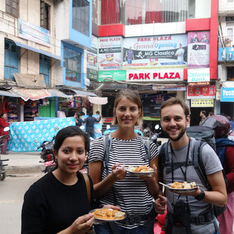 Chicken Momos in Thamel